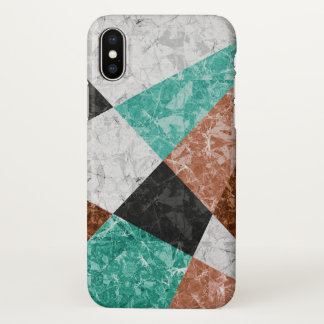 iPhone X Case Marble Geometric Background G434