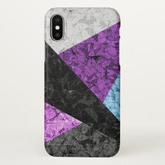 iPhone X Case Marble Geometric Background G437