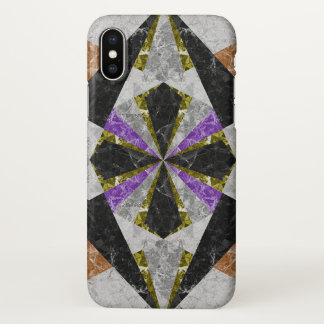iPhone X Case Marble Geometric Background G441