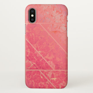 iPhone X Case Pink Marble Texture