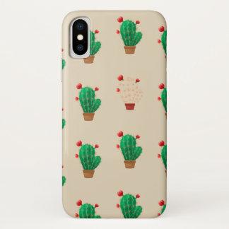 IPhone X case with cactus