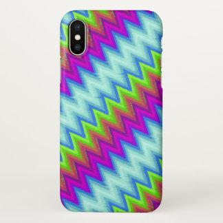 iPhone X Case Zig Zag Turbulence G13