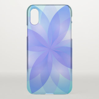 iPhone X Clearly Case Abstract Lotus Flower