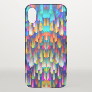 iPhone X Clearly Case Colorful splashing