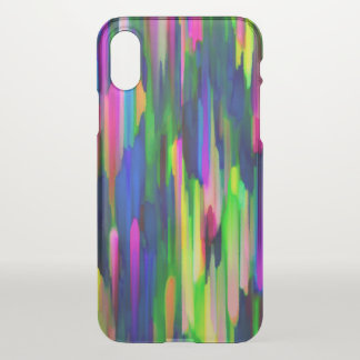 iPhone X Clearly Case Colorful splashing G256