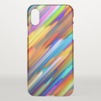 iPhone X Clearly Case Colorful splashing G391