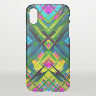 iPhone X Clearly Case Colorful splashing G467