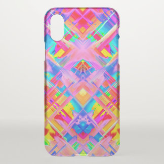 iPhone X Clearly Case Colorful splashing G470
