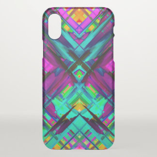 iPhone X Clearly Case Colorful splashing G472