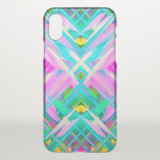 iPhone X Clearly Case Colorful splashing G473