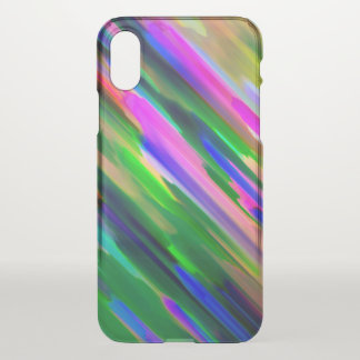 iPhone X Clearly Case Colorful splashing G487