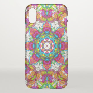 iPhone X Clearly Case Drawing Floral Doodle G30