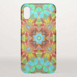 iPhone X Clearly Case Floral Fractal Art G410