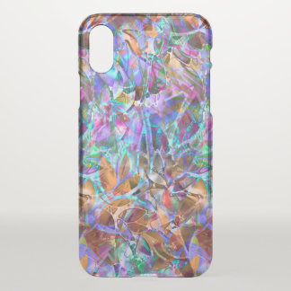iPhone X Clearly Case  Floral Stained Glass