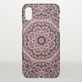 iPhone X Clearly Case Floral Wrought Iron G93