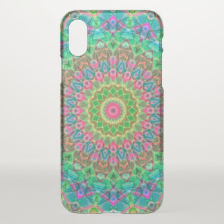 iPhone X Clearly Case Geometric Mandala G18