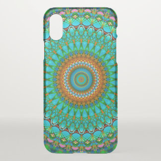 iPhone X Clearly Case Geometric Mandala G388