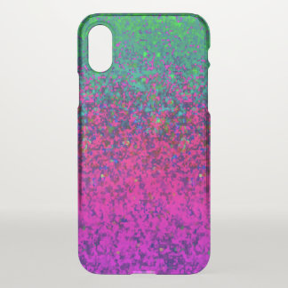 iPhone X Clearly Case Glitter Dust Background