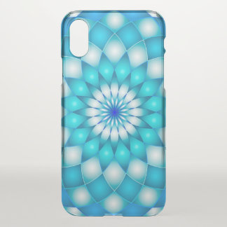 iPhone X Clearly Case Mandala Lotus Flower