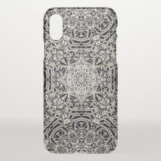 iPhone X Clearly Case Mehndi Ethnic Style G419