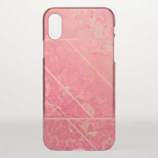 iPhone X Clearly Case Pink Marble Texture