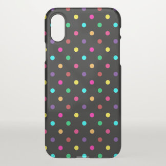 iPhone X Clearly Case Polkadots