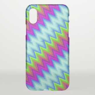 iPhone X Clearly Case Zig Zag Turbulence G13