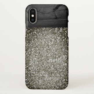 iphone x country western old glitter wood case