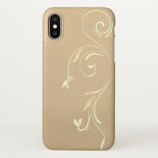 iphone x embellished gold case