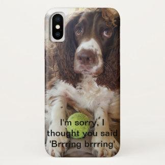 iPhone X mobile Springer spaniel mobile phone case