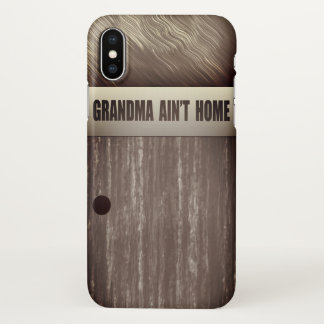 iphone x  realistic  white old brown wood case