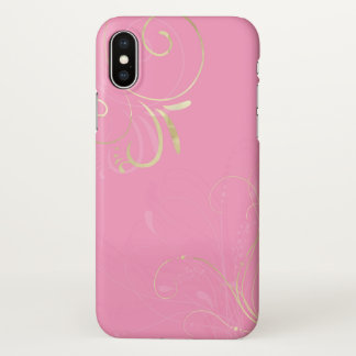 iphone x sky pink silver light black case