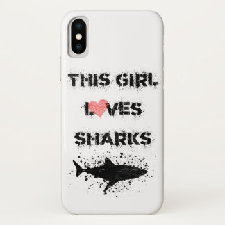 iPhone X, This Girls Loves Sharks Phone Case