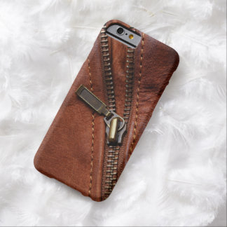 iPhone: Zipper of Brown Leather Biker Jacket Barely There iPhone 6 Case