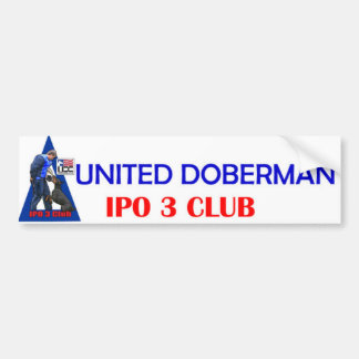IPO 3 Club Bumper Sticker