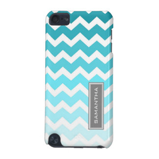 iPod Touch 5g Blue Ombre Chevron Custom Name iPod Touch 5G Cover