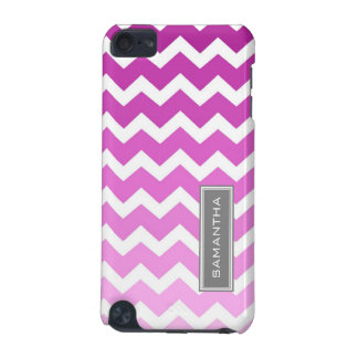 iPod Touch 5g Pink Ombre Chevron Custom Name iPod Touch 5G Cover