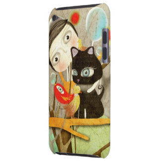 iPod Touch Case Bird Cat Huge eyes