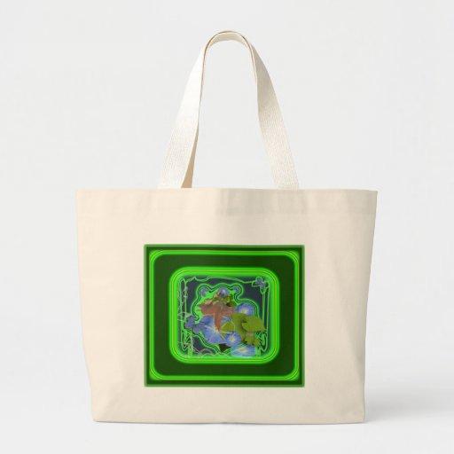 ipomoea-faery tote bags