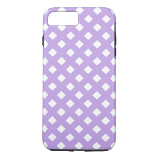 iPone Cover, Diamond Design in White and Lavender iPhone 7 Plus Case