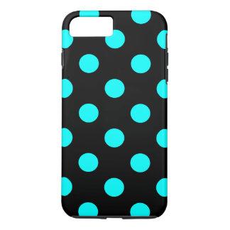 iPone Cover, Polka Dot Design, Blue on Black iPhone 7 Plus Case