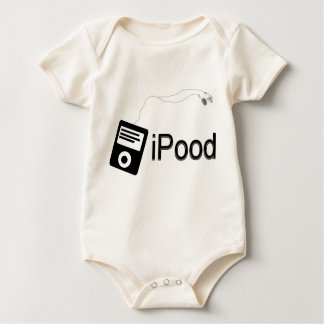 iPood-black Baby Bodysuit
