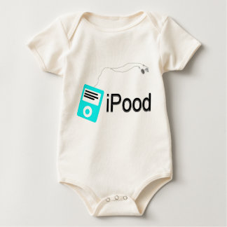 iPood-blue Baby Bodysuit