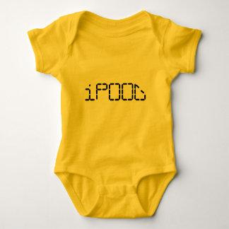 ipood funny hight tech funny poop design baby bodysuit