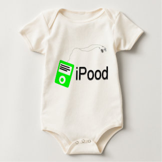 iPood-green Baby Bodysuit