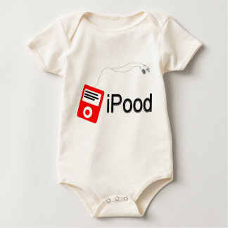 iPood red Baby Bodysuit