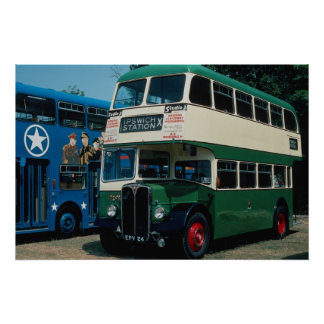 "Ipswich Corp.'s """"Regent"""" double-decker at Southa Poster"