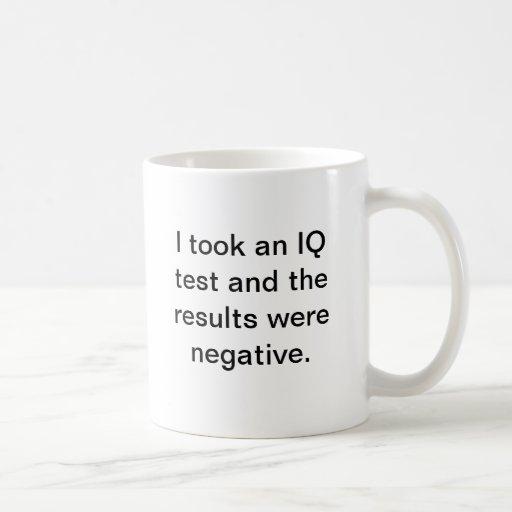 IQ test mug