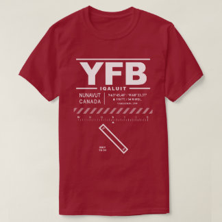 Iqaluit Airport YFB Tee Shirt