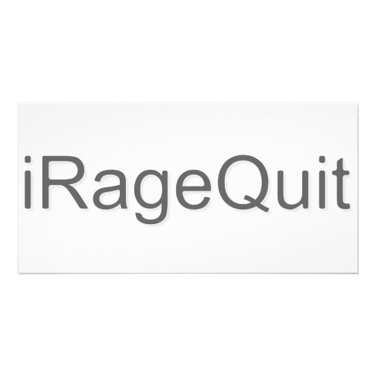 iRageQuit Rage Quitting Gamer Card
